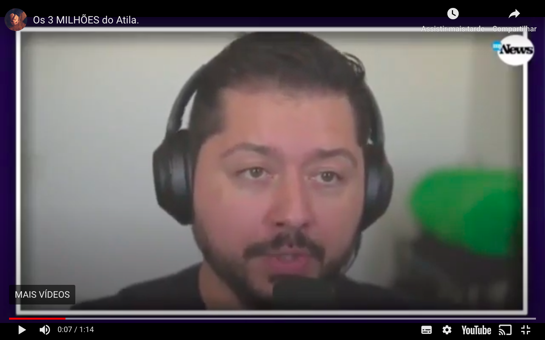 """MyNews edita vídeo a pedido de Atila Iamarino para ocultar """"3 milhões"""""""