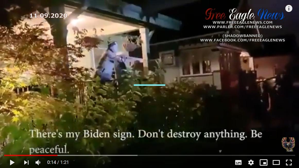 """Idoso suplica a apoiador do BLM: """"não destruam nada"""""""