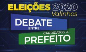 Eleições 2020: debate entre candidatos a prefeito de Valinhos