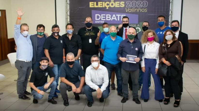 Foto do debate realizado em Valinhos - SP- eleições 2020.