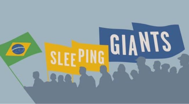 Sleeping Giants Brasil usa plataforma da ONG esquerdista Nossas