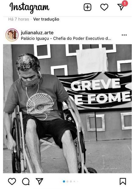 """Sindicalista """"levanta"""" após tirar foto em cadeira de rodas"""