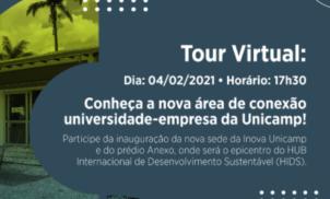Inauguração Inova Unicamp e Anexo será virtual