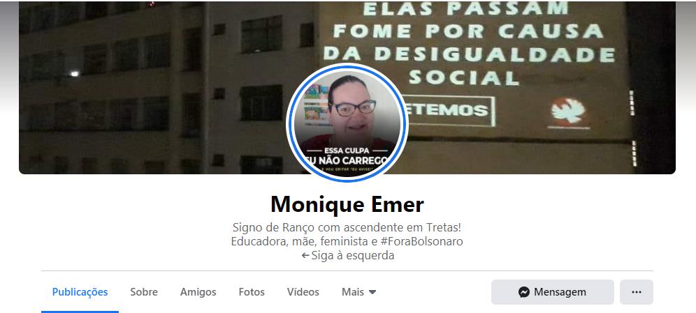 Monique Emer: a petista que desejou a morte de crianças e idosos