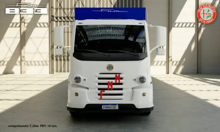 FNM entrega o primeiro caminhão elétrico fabricado no Brasil