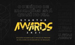 Startup Awards 2021 revelará as melhores startups do ano